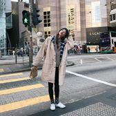 春季新款韓版女裝時尚百搭寬鬆連帽收腰風衣