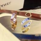 情侶戒指 羅馬數字冷淡風戒指女士ins時尚男潮個性情侶小眾設計鈦鋼戒指環