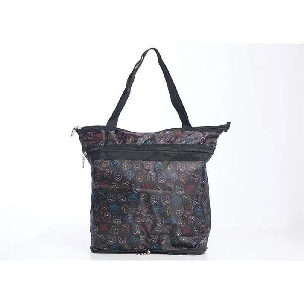 LAZY MARU摺疊環保袋(防水印花輕便購物袋)