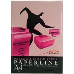 PAPER LINE  140  80P A4 玫瑰紅 影印紙  (5包/箱)