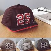 磨毛數字軟簷棒球帽 遮陽帽 帽子 童帽