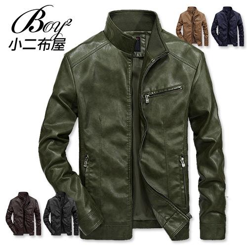 皮衣外套 硬派風格騎士立領休閒外套【NZ78715】