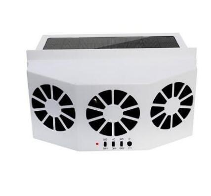 太陽能充電汽車換氣扇車載排風扇降溫神器散熱器車窗換氣扇通風排熱扇 NMS設計師