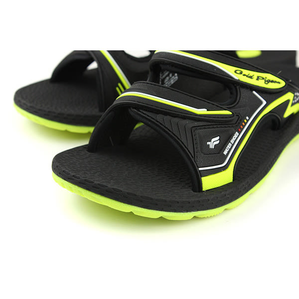 GP (Gold.Pigon) 阿亮代言 涼鞋拖鞋 防水 雨天 黑/黃 男鞋 G8547M-60 no877