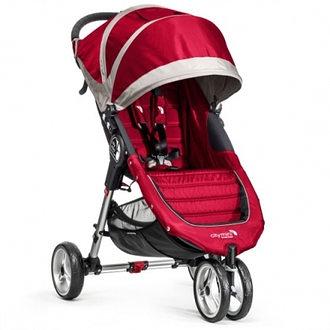baby jogger city mini 單手秒收【Fold 經典版】-輕慢跑推車-紅色