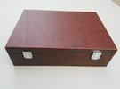商務新款皮盒子棕色定做加厚皮盒宴會禮品盒會議禮盒手工包裝盒 設計師