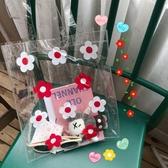 果凍包韓國ins少女網紅花朵透明果凍側背包學生韓版手提袋大容量沙灘包 新年禮物