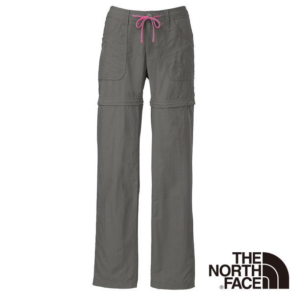 The North Face 女 快乾兩截褲-灰色 【GO WILD】