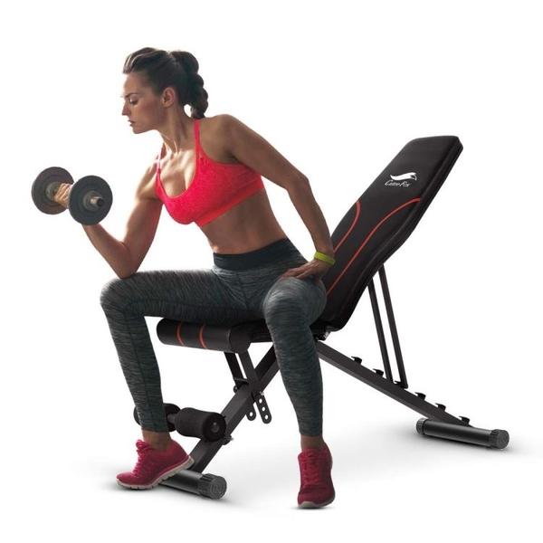 啞鈴凳可折迭仰臥起坐健身器材家用多功能仰臥板健身椅推凳 潮流衣舍