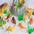 恐龍 家家酒 迷你家家酒 模型 侏儸紀公園 恐龍 暴龍 迅猛龍 14入套餐(含石頭)【塔克】