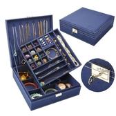 飾品收納盒首飾盒雙層絨布歐式木質韓國公主家居帶鎖裝飾品化妝女收納盒大 免運