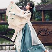 漢服襦裙古裝服裝學生風仙女裝夏廣袖流仙裙日常改良古風套裝DI