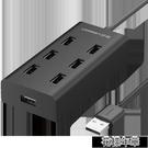 usb擴展器轉接頭一拖七多接口hub電腦筆記本外接U盤打印機加長 快速出貨