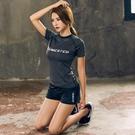 瑜珈服 夏季瑜伽服女上衣健身房運動短袖舞蹈t恤性感初學者專業瑜珈顯瘦【原本良品】