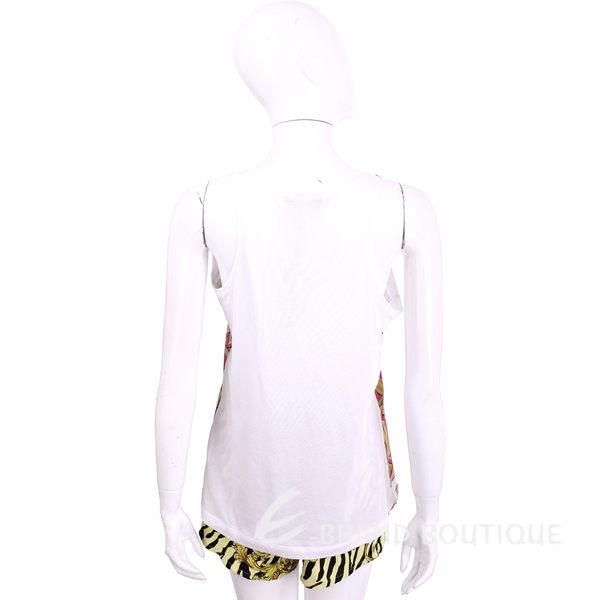VERSACE 白色幾何圖騰拼接無袖上衣 1620418-A5