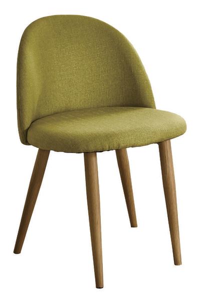 【 IS空間美學】喬絲綠布鐵藝餐椅