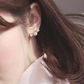 【現貨】無耳洞耳環一對 新款珍珠水鑽鑲耳夾 共兩色 979