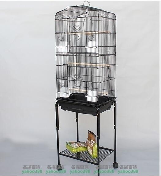 W百貨玄鳳虎皮鸚鵡籠子大型鳥籠 八哥籠大號金屬 牡丹鷯哥繁殖籠3016 超大型鳥籠 帶MY~398