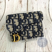 BRAND楓月 CHRISTIAN DIOR 迪奧 Oblique 復古 老花 馬鞍 卡夾 小零錢包