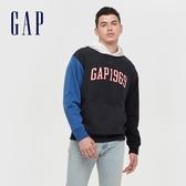 Gap男裝 LOGO活力撞色連帽休閒上衣 618762-海軍藍