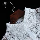 白色鉤花邊蕾絲內搭假領子女百搭假領打底襯衫裝配飾假衣領子鏤空 聖誕節鉅惠