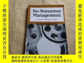 二手書博民逛書店No-Nonsense罕見Management6886 Rich