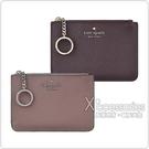 Kate Spade LAUREL WAY BITSY銀字LOGO PVC4卡鑰匙圈拉鍊零錢卡夾(兩色)
