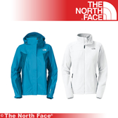 【The North Face 女 GT WIND PRO兩件式外套《藍白》】F13P-BLU/兜帽外套/防水/防風/抗寒/風衣★滿額送