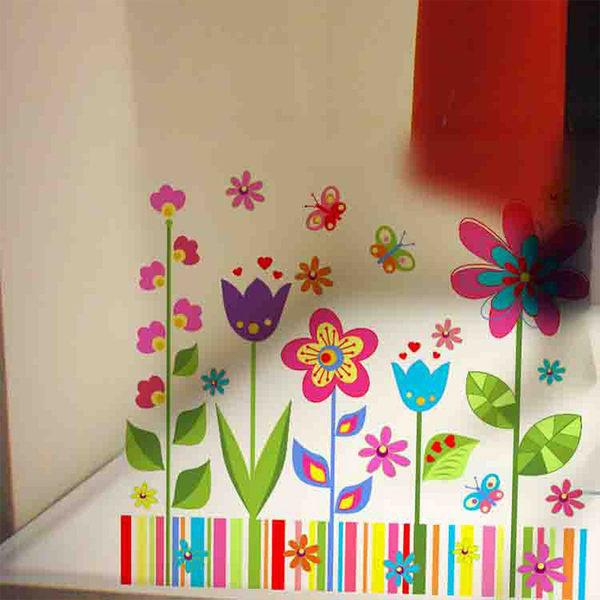 壁貼 卡通花卉 居家裝飾牆壁貼紙《Life Beauty》