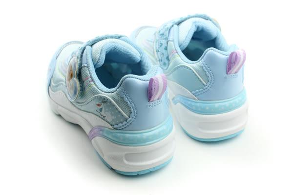 冰雪奇緣 休閒鞋 童鞋 水藍色 中童 no922
