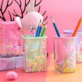 彩球筆筒創意時尚學生桌面簡約個性北歐文具收納盒【輕奢時代】