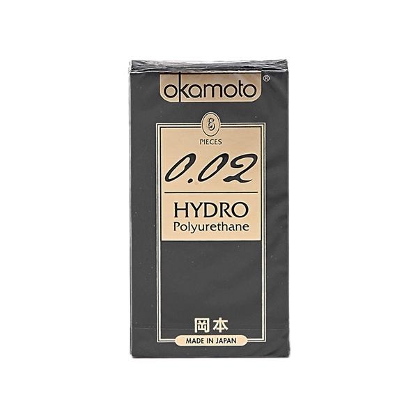 日本 okamoto 岡本 0.02 HYDRO衛生套(6入)【小三美日】保險套
