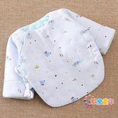 棉質花新生兒半背衣 嬰兒夾棉保暖棉襖上衣 初生寶寶和尚服秋冬季