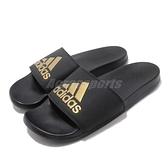 adidas 拖鞋 Adilette Comfort 黑 金 基本款 舒適好穿 基本款 女鞋【ACS】 B41742