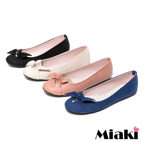 【Miaki】MIT 都會淑女蝴蝶結平底包鞋娃娃鞋