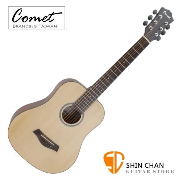 Comet CT1 36吋 雲杉木 民謠吉他/旅行吉他/Baby吉他 附贈Pick x2、移調夾、背帶、吉他袋