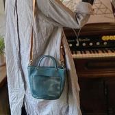 真皮側背包-手工染色牛皮水桶包女手提包3色73yq36【時尚巴黎】