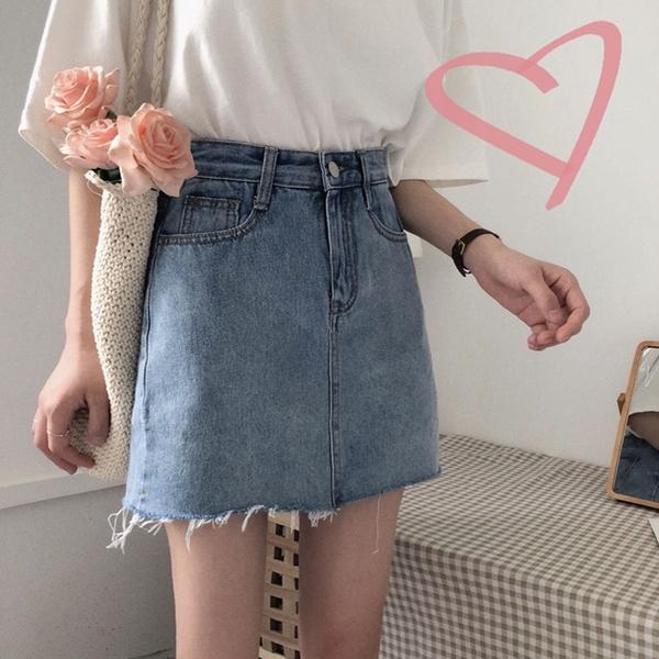 """免運 -ZUCA""""S - 復古高腰A字裙短裙顯瘦半身褲裙 - KK-537"""