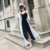 吊帶裙 連身裙女中長款小心機修身顯瘦長裙裙子裝 『名購居家』