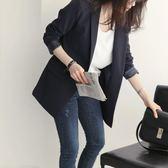 西裝外套秋裝新款韓版一粒扣休閒小西裝通勤長袖修身女西服顯瘦外套潮 小天使