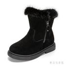 女童雪地靴2019新款秋冬款棉鞋加厚加絨短靴冬季兒童防滑保暖靴子 YN2987『寶貝兒童裝』