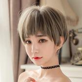 尚青絲 波波頭二次元劉海假髮女短髮自然逼真蓬鬆奶奶灰bobo頭套