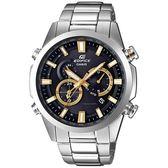 【人文行旅】EDIFICE   EQW-T640YD-1A9DR 雙錶盤太陽能電波錶