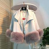 皮衣外套女新款冬短款韓版寬鬆小皮衣時尚仿皮草ulzzang皮衣  夢想生活家