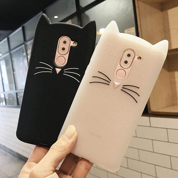 卡通鬍鬚貓 HUAWEI Nova 2i 手機殼 華為 麥芒6 保護套 保護殼 矽膠套 全包防摔軟殼 送同款掛繩