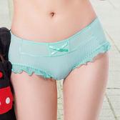 easybody-條紋U型bra 中低腰平口褲(薄荷藍)