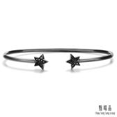 點睛品 Wrist Play 18K星形黑鑽石手環/手鐲