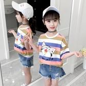 童裝女童短袖T恤夏裝2020新款兒童純棉體恤中大兒童男童t恤上衣潮 快速出貨
