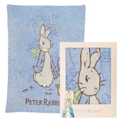 【奇哥】比得兔雙層柔舒毯禮盒-藍(90×125cm)