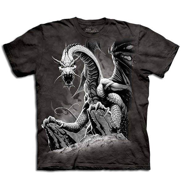【摩達客】 (預購) 美國進口【The Mountain】自然純棉系列 惡龍 設計T恤(1049045012a)